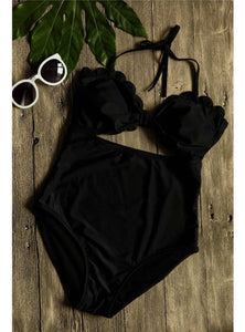 Scallop One Piece Swimsuit