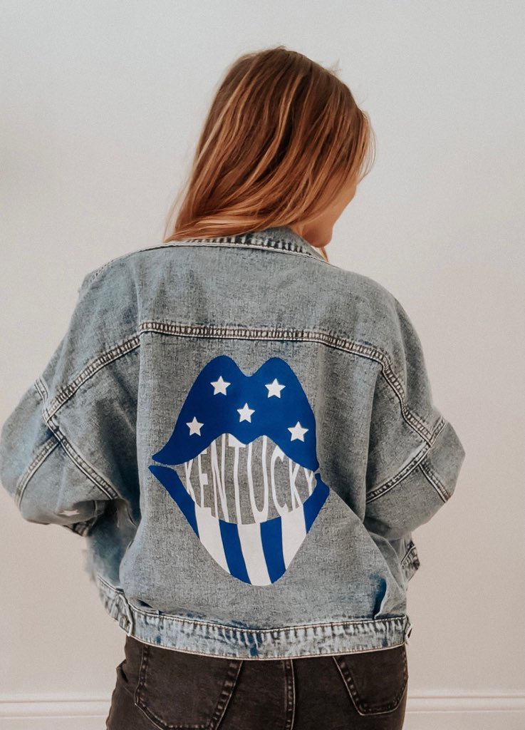 Rivalry Runway x JCB | Lips Print Denim Jacket