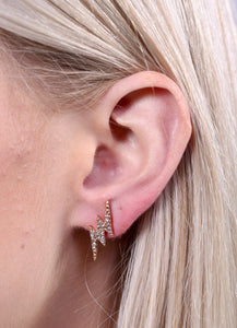 Trace Lightning Bolt Diamond Studs