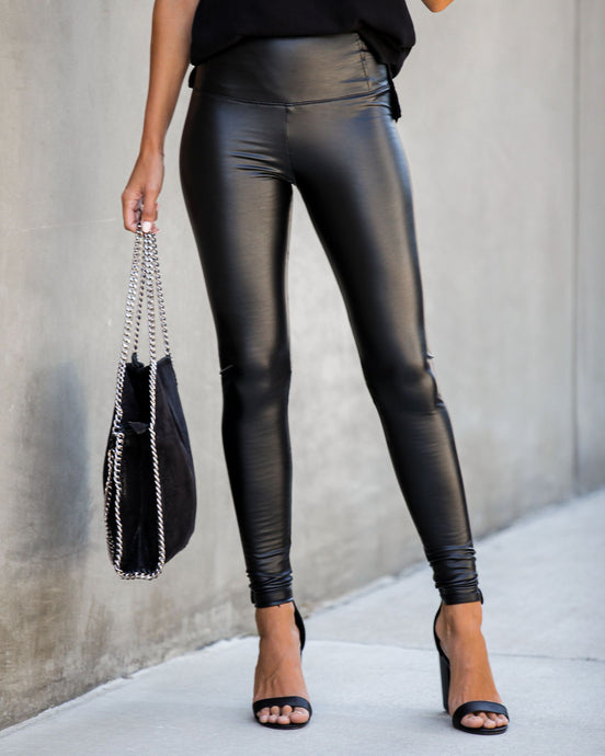 Lucie Faux Leather Leggings