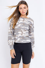 Cassie Open Back Camo Tie Top