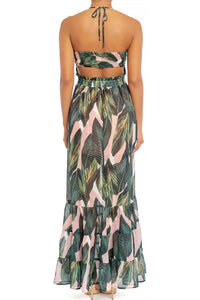 Palm Springs Smocked Ruffle Maxi Dress
