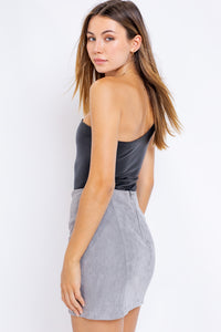 Lyla Leather One Shoulder Bodysuit