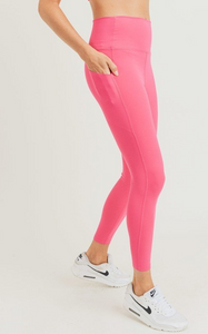 Hanna Hot Pink Pocketed Leggings