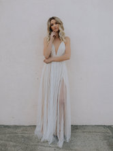 Tayci Tulle Maxi Dress in White/Nde