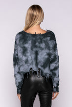 Bleu Tie Dye Distressed Sweater
