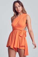 Oana Orange Wrap Romper