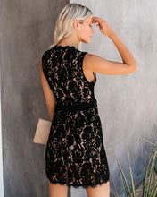 Everleigh Lace Wrap Dress in Black