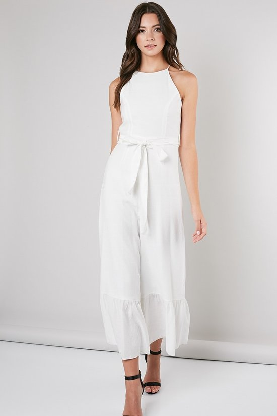 Lani Linen Bottom Ruffle Jumpsuit