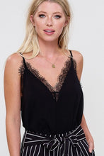 Chelsea Lace Chiffon Cami in Black
