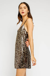 Loren Leopard Sequin Dress