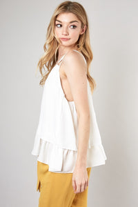 Lucille Layered Cami in White
