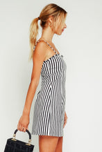 Demi Striped Ruffle Trim Dress