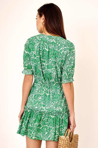 Gretta Green Button Down Botanical Dress
