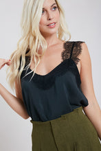 Cassidy Lace Cami Tank in Black