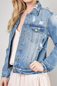 Jack Distressed Jean Jacket