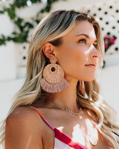 Florence Fringe Earrings in Natural