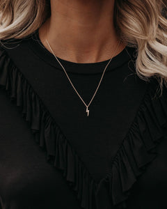 Trace Lightning Bolt Necklace