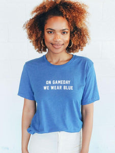 Charlie Southern | On Gameday We Wear Blue Tee