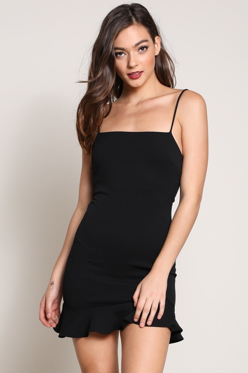 Bailey Black Ruffle Dress