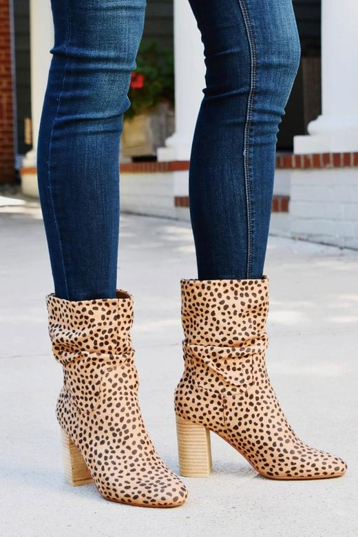 Darby Cheetah Slouch Booties