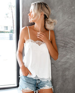 Laney Lace Cami in White