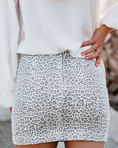 Levine Leopard Mini Skirt