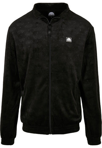 SOUTHPOLE | AOP VELOURS RETRO JACKET BLACK
