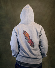 Rhodos Dark Grey Hooded Sweatshirt