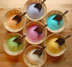 DIY colored salts