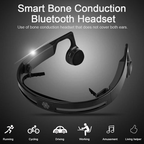 Hi tech wireless bluetooth bone conduction headphone