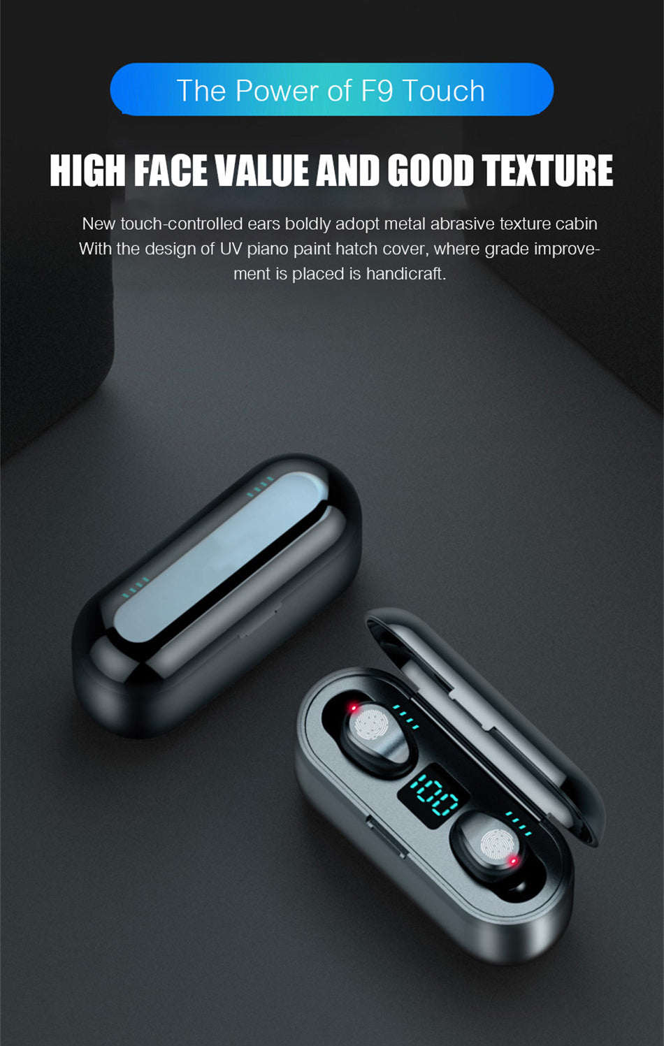 Intelligent Touch Bluetooth Earphone & Power Bank