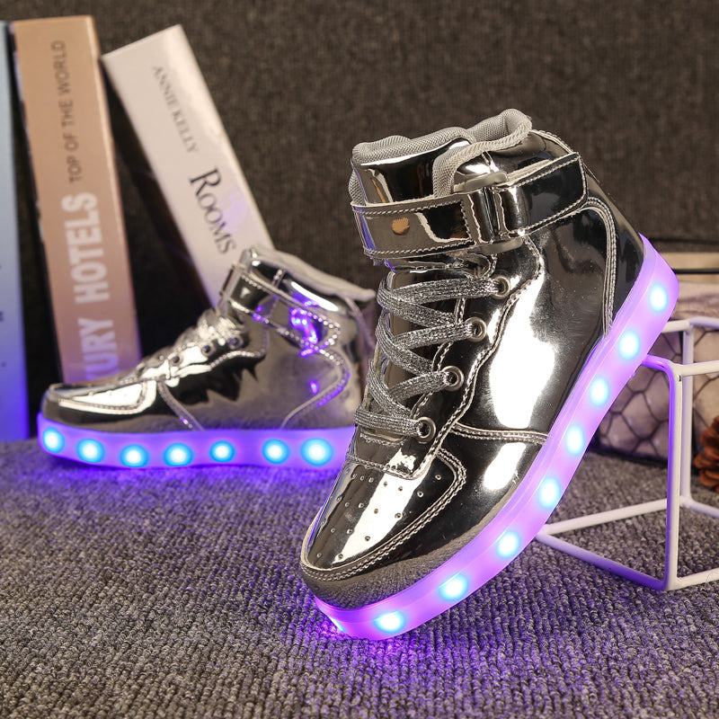 LED Light Up/USB Charge Casual Luminous Sneakers - Martem Collection