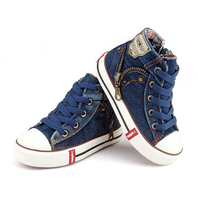 Breathable Boys Jeans Denim Casual Sneakers - Martem Collection