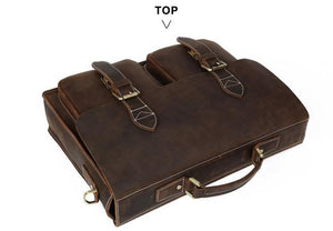 Hot sale Gents Vintage Real Leather Laptop Handbag. - Martem Collection