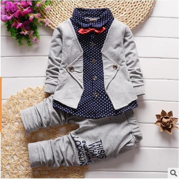Toddlers formal 2Pcs boys gentleman suit set - Martem Collection