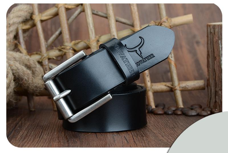 Cow genuine leather high quality luxury belt for men - Martem Collection