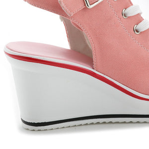 Wedges Canvas Shoe for Women - Martem Collection