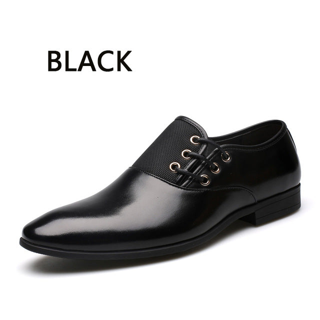 Round Toe Flat Business British Lace-up Men's shoes - Martem Collection
