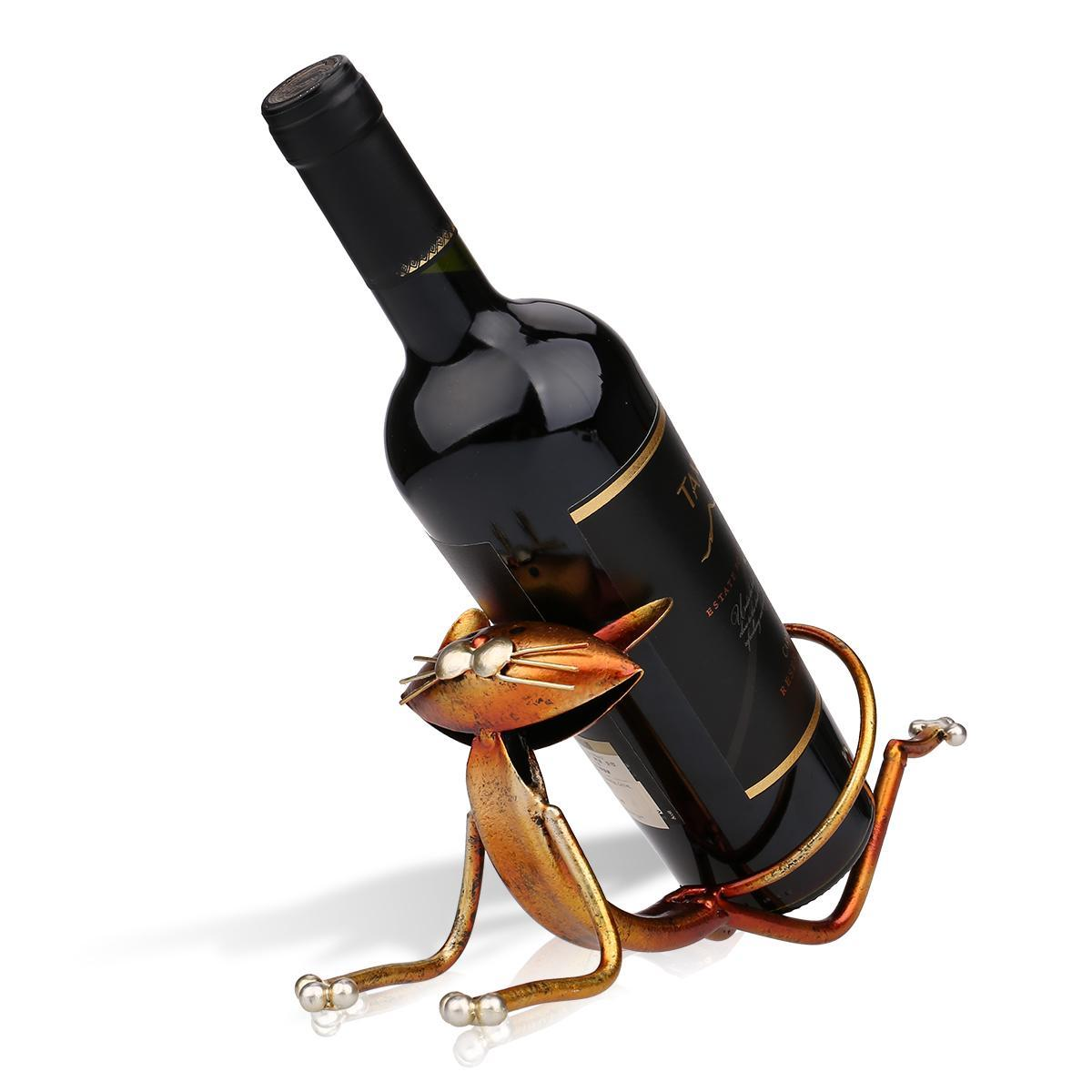 Exquisite Yoga Cat Wine Holder - Martem Collection