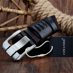 Quality cow genuine luxury leather belts for men - Martem Collection