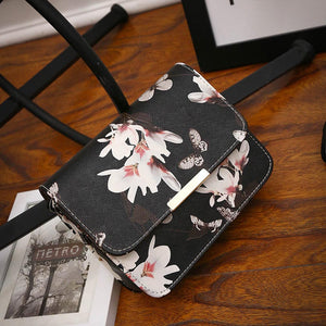Women Floral Leather Shoulder/Hand Bag - Martem Collection