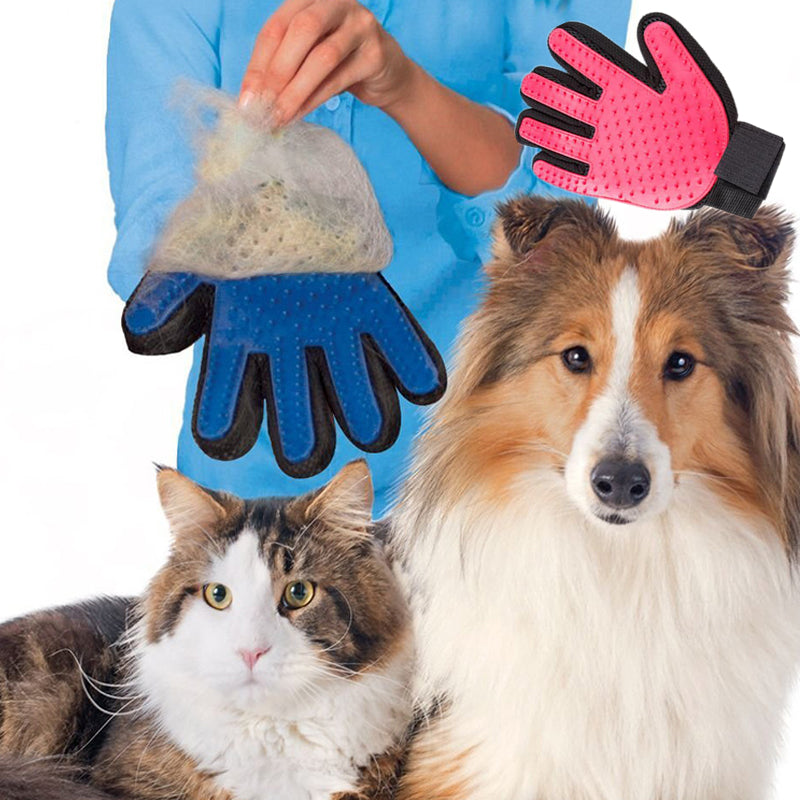 Pet Shedding Grooming Gloves for Cats, Dogs & Horses (One Pair)