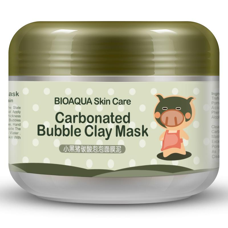 Black Pig Carbonated Bubble Clay Mask (Deep Cleaning Moisturizing Skin Care). - Martem Collection