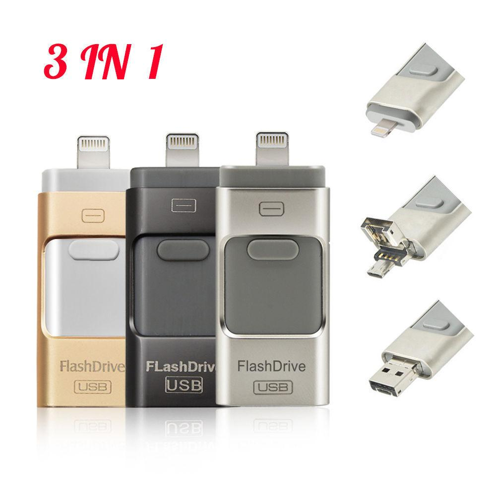 3-in-1 Mobile USB Flash Drive (FREE Shipping)