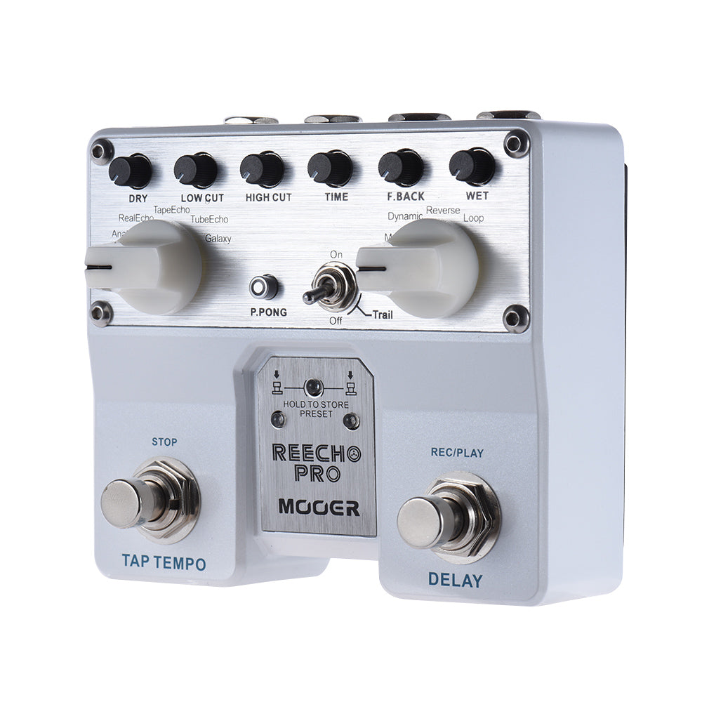 Maestro Re-Echo Pro Digital Delay Pedal/Twin Footswitch/6 Delay Effects/Looper - Shred Maestro