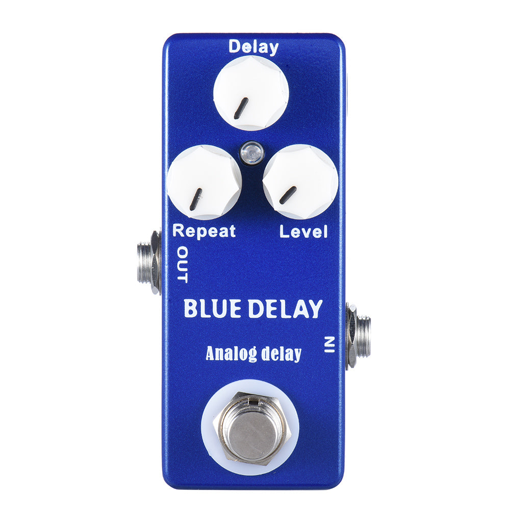 Maestro Blue Delay: Mini Portable Analog Delay - Shred Maestro