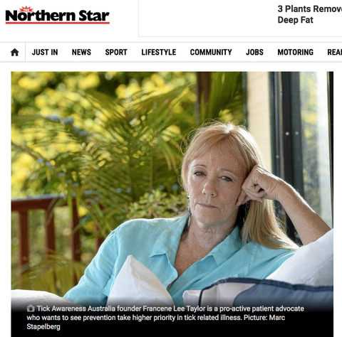 Tick issues on the NSW north coast Northern Star article John Curnow and Dr Marla McManus