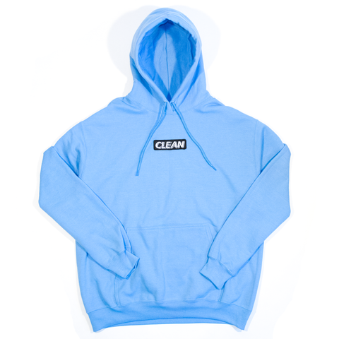Block Logo Hoodie Light Blue