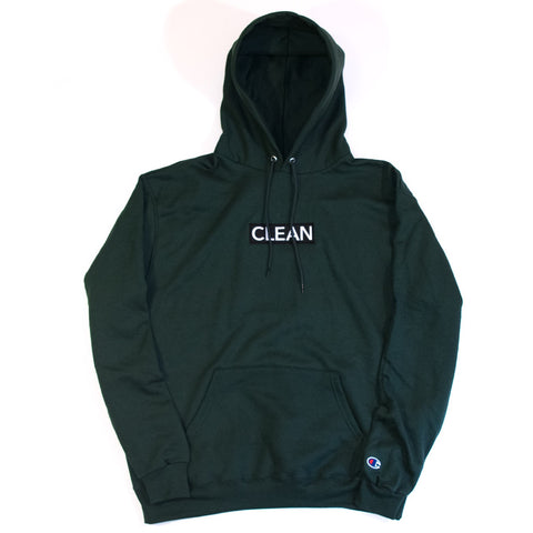 apr. 21 Dark Green Embroidered Logo Hoodie